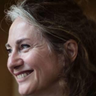Author / Speaker holding image - Rachel Joyce
