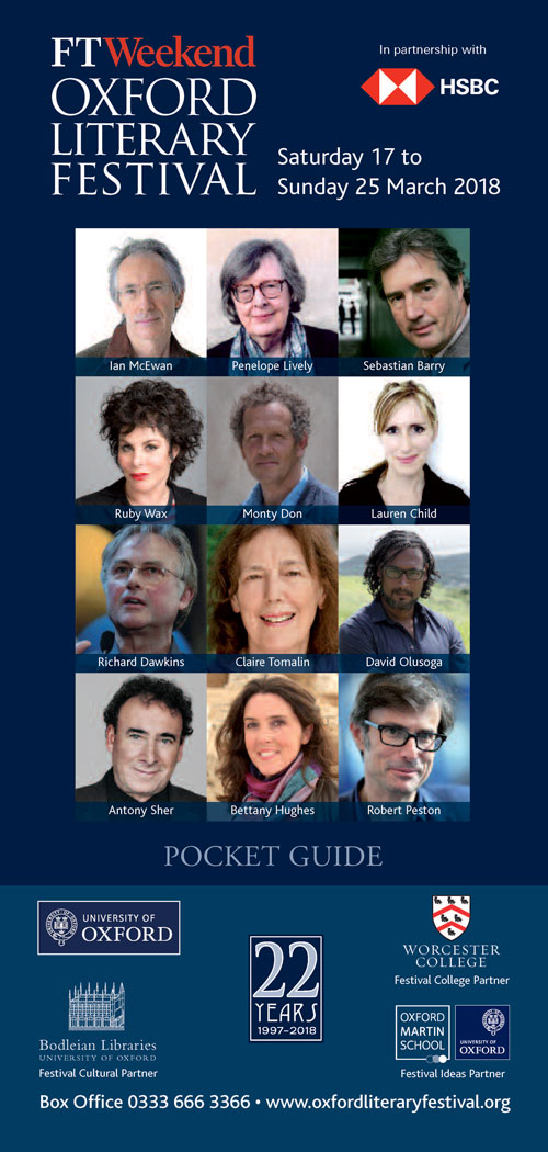 Oxford Literary Festival pocket guide 2018